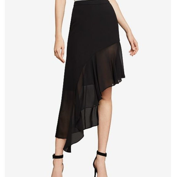 41ef59bd24 BCBGMaxAzria Skirts | Nwt Bcbg Asymmetrical Ruffle Skirt In Black ...
